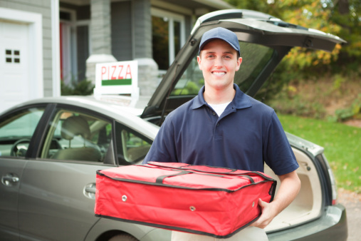 image of pizza delivery guy