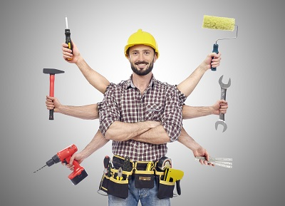 image of man with tools