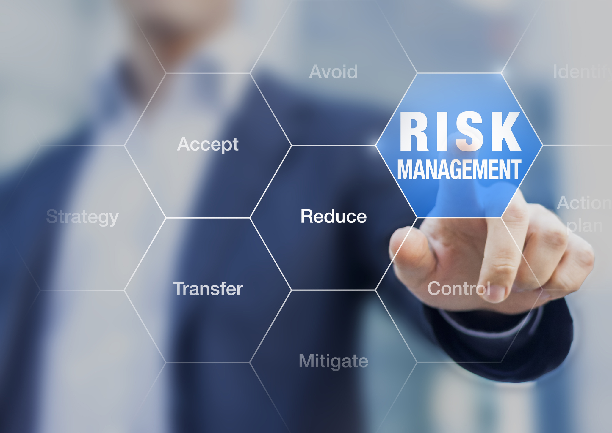 image of business owner dealing with risk management
